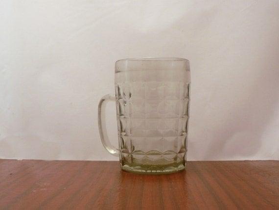 Vintage Soviet Beer Mug Glass Mug Kitchen Home Decor