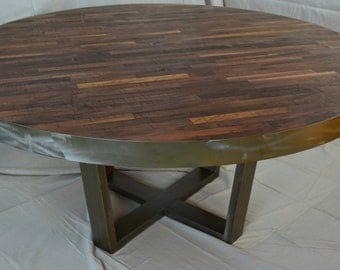 Industrial Modern Dining Table in Walnut