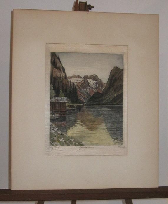 Hans Leisch Austrian Landscape On Silk