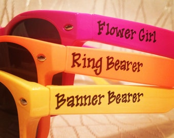 Personalized Kids Sunglasses for birthday party/everyday use/wedding/beach trip