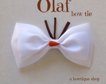 olaf clip on bow tie