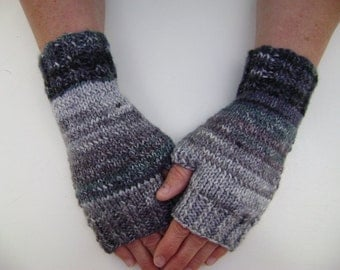 Fingerless Gloves in Shades of Grey. Ready to Ship.