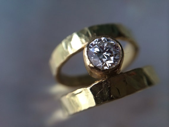 18kt Gold & 1 2kt Diamond Engagement Ring by MelissaTysonDesigns