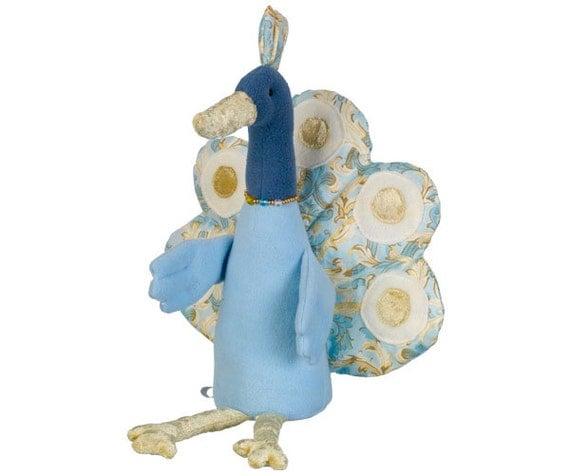 Peacock Baby Einstein Crib Toy : Items similar to soft toy peacock stuffed animal