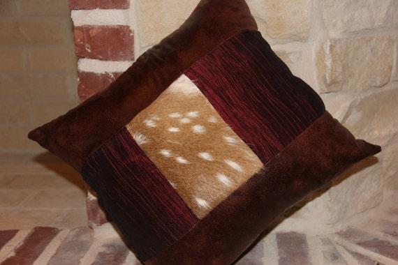 Faux Deer Hide Pillows : Decorative Axis deer hide pillow
