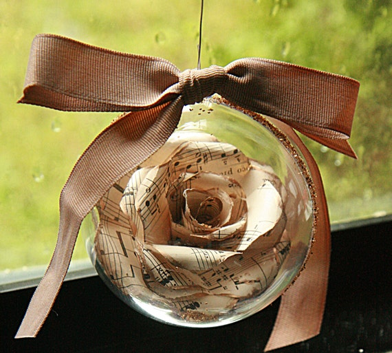 paper rose ornament