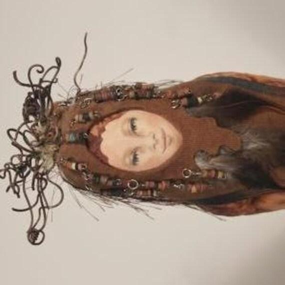 Spirit doll - Earth Spirit, OOAK, hand-painted face
