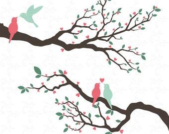 Vintage Love Bird Clip...