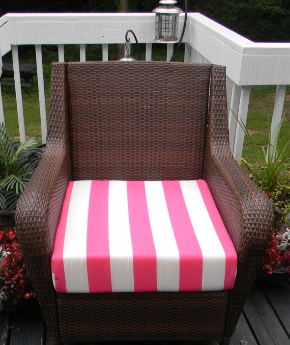 Indoor Outdoor Deep Seating Chair Cushion Seat Pink and