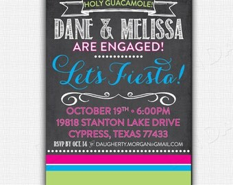 CHALKBOARD FIESTA -  Party Invitation