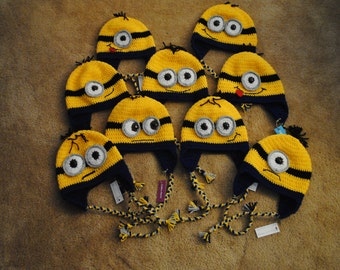 Customizable toddler-sized Minion-inspired hat.
