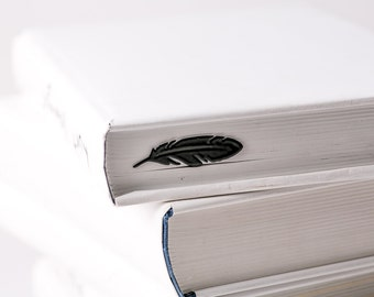 Metal Book Bookmark FEATHER // Fantastic Present for book lover // Unique gift packaging ready to give // Free shipping worldwide
