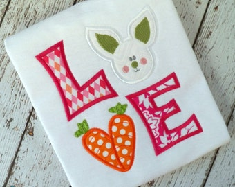 LOVE Easter machine embroidery design