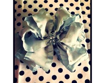 Double ruffle hair bow