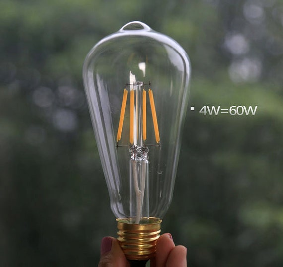 New Edison style WT64 LED light bulb E27 2w 4w lamp