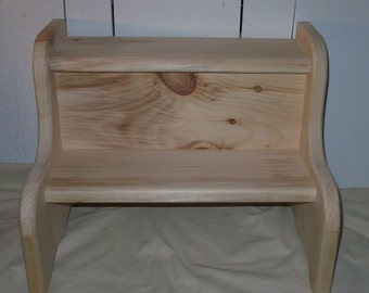 Handcrafted Bedside Step or Child's Step Stool
