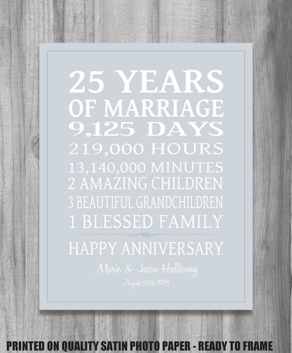 25th Wedding Anniversary Gift List : Unavailable Listing on Etsy