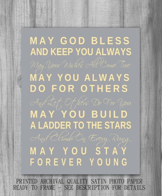 Bob Dylan Forever Young Print Song Lyrics by PrintsbyChristine