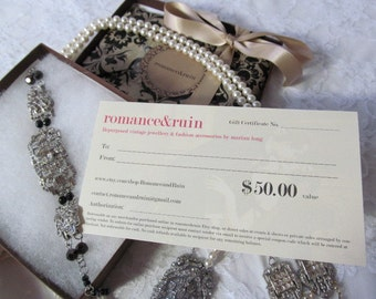 Gift Certificate Fifty Dollars