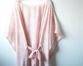 Red chiffon top ~ Polka dot silk top ~ Polka dot ~ Silk tunic ~ Vintage tunic ~ Silk chiffon ~ Chiffon blouse ~ Beach cover up ~ Beach dress