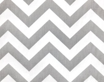 25 inch Drapery Panels Storm Gray and White Zig Zag Chevron Curtains Premier Prints