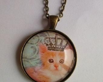 cat necklace royal princess cat picture pendant