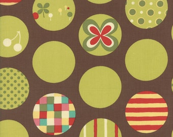 SALE Avant Garden Dots in Earth by Momo for Moda Fabrics