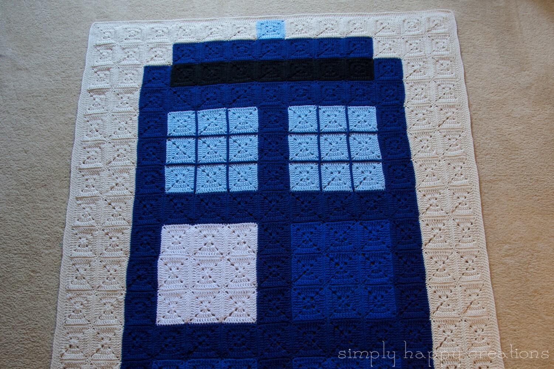 Crochet pattern for tardis blanket manet for ready to ship crochet 8 bit pixel art afghantwin bankloansurffo Images