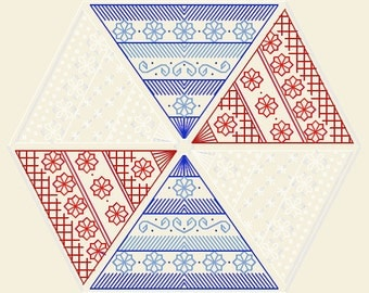 Hexafleur - embroidery pattern in PDF