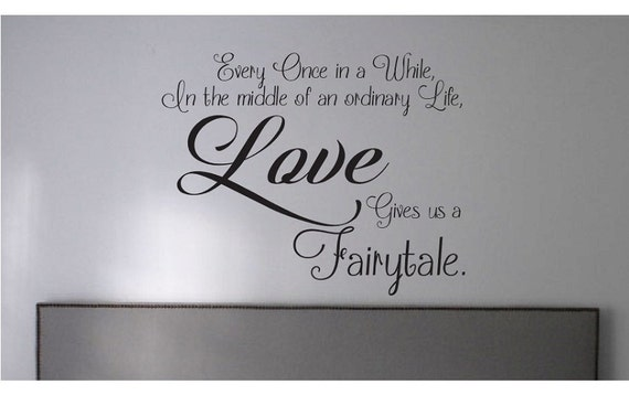 Fairytale Love Quotes Stunning Fairytale Love Quote Sign Vinyl Decal Sticker Wall Once In A