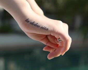 La Dolce Vita Medium - Spirit Ink Temporary Tattoos
