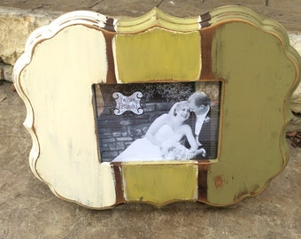 Handcrafted Distressed 5x7 wood frame