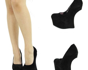 HEEL-LESS WEDGE: Curved Heel Wedge Custom Comic Heels Custom Comic Shoes Comic Book Heels Comic Book Shoes Comic Con Heels Custom Wedge