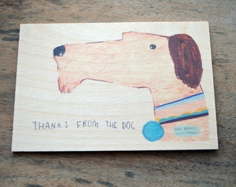 Thanks from the dog Timbergram by Faye Bradley