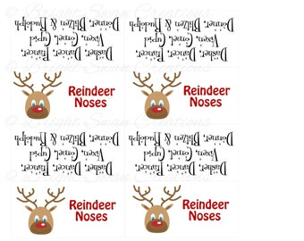 Instant Download - Reindeer Noses - print ALL you need - DIY Printable ...