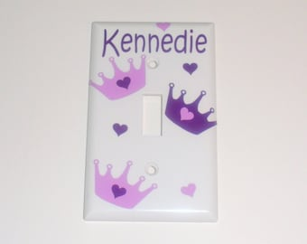 Personalized Princess Light Switch Cover / Over-Sized / Crown Bedroom Decor