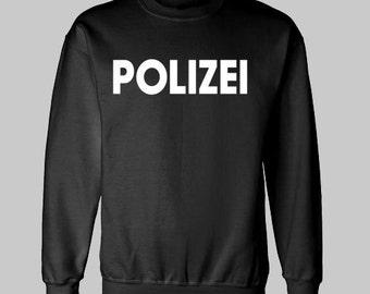 POLIZEI GERMANY GERMAN sweatshirt police novelty