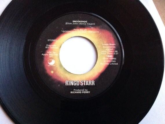 1975 Ringo Starr Snookerroo No No Song Custom Apple
