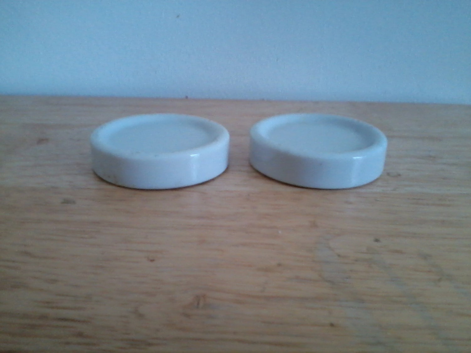 Pair of Vintage Furniture Coasters Floor Protective Discs made