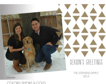 Triangle Season's Greetings Digital Holiday Photo Card