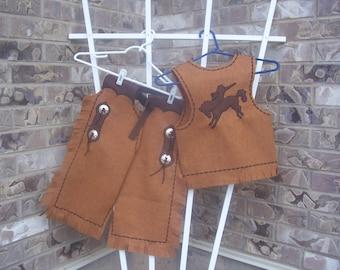 6T- size 8 Cowboy Chaps and Vest