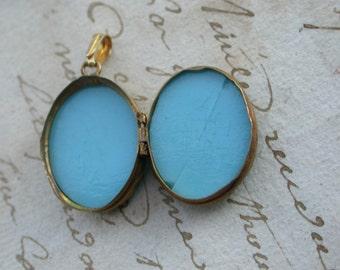 French antique Gold vermeil pendant blue stone  art nouveau seal pendant port photo antique locket