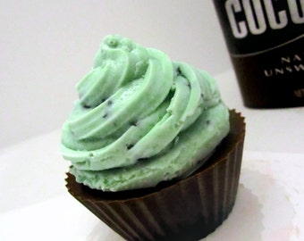 Chocolate Mint Cupcake Soap