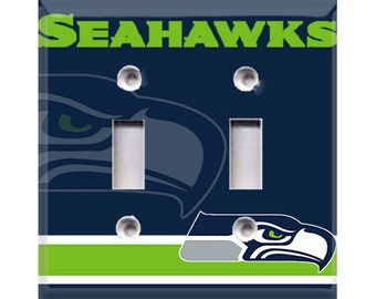 Seattle Seahawks Double Light Switch Cover