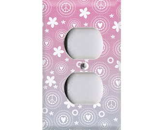Peace, Love & Flowers Outlet Cover