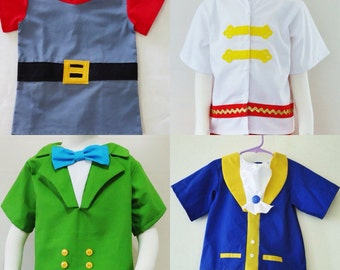 Prince Top - Shirt - Beast - Prince Phillip - Prince James -Costume- Disney Prince- Disney Cruises- Halloween Outfit - 12M to 7Years