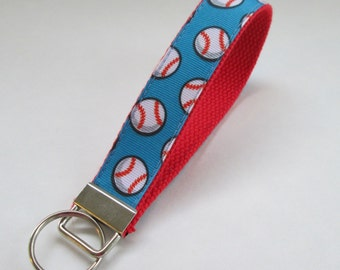 Baseball Lanyard Keychain, Cool Lanyards, Baseball Keychain Lanyard, Cute Wristlet Lanyard, Cute Key Fobs, Baseball Gifts for Coaches