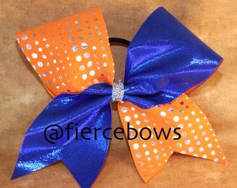 Orange and Royal Cheer Bow