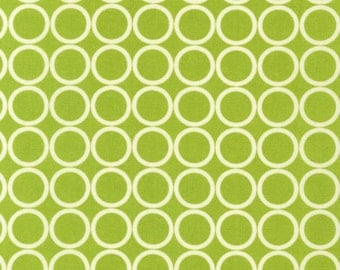 LAST PIECE - End of Bolt - 1 yard and 12 inches - Metro Living Circles in Chartreuse