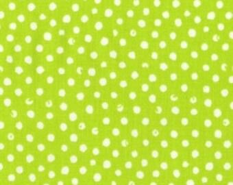 One Yard - Confetti Dots in Lime by Dear Stella - 1 yard